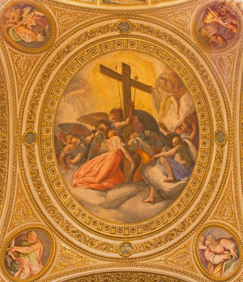 Ρώμη - η αποθέωση των οργάνων της νωπογραφίας πάθους στοκ φωτογραφία