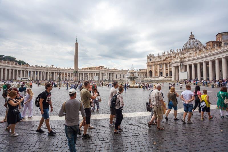 Ρώμη, Ιταλία - 23 06 2018: Καθεδρικός ναός του ST Peter ` s στο ST Peter ` s s στοκ φωτογραφία με δικαίωμα ελεύθερης χρήσης