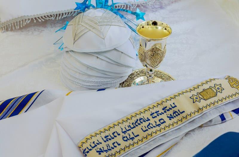 Σάλι προσευχής - εβραϊκό θρησκευτικό σύμβολο Tallit και στοκ εικόνες