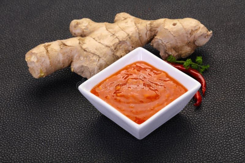 Σάλτσα τσίλι πιπεροριζών στοκ φωτογραφία με δικαίωμα ελεύθερης χρήσης