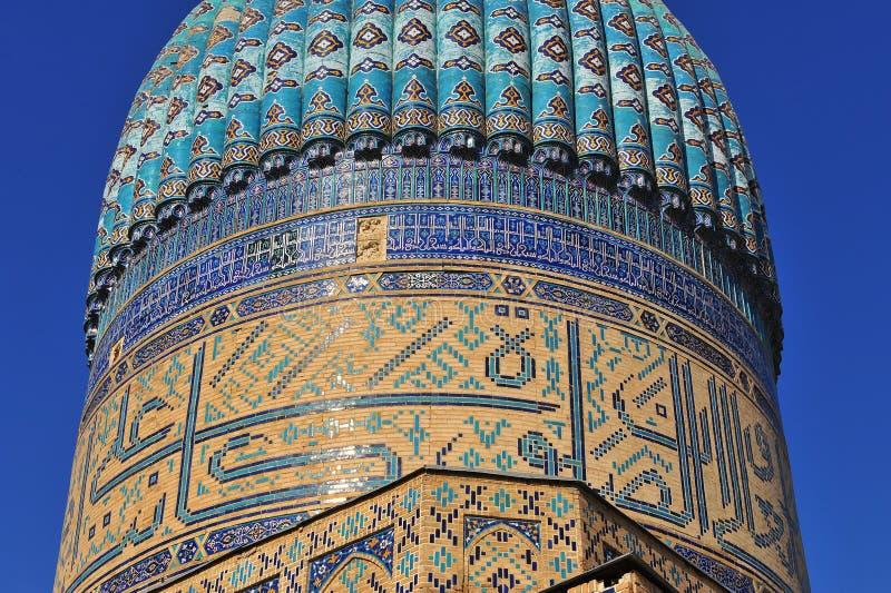 Σάμαρκαντ: όμορφος μπλε θόλος μουσουλμανικών τεμενών στοκ φωτογραφίες με δικαίωμα ελεύθερης χρήσης