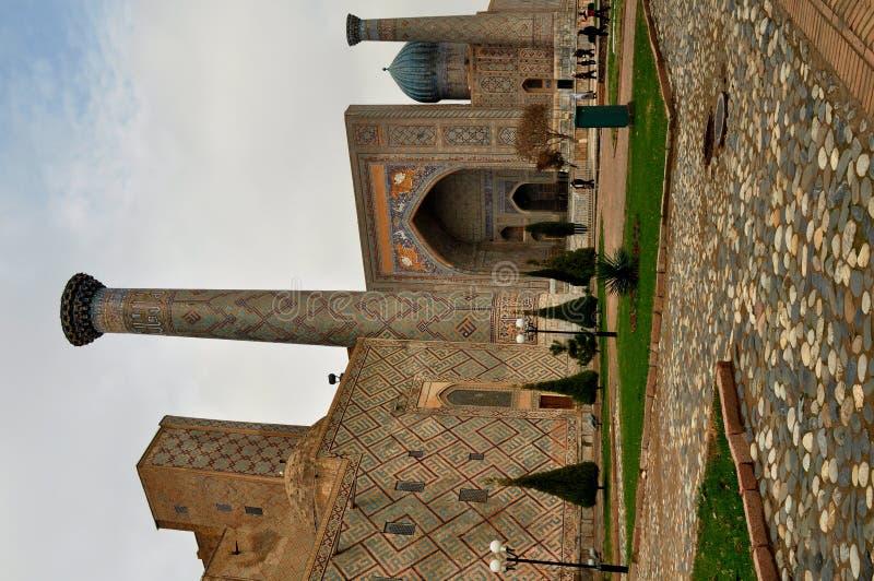 Σάμαρκαντ. Registan.Sher-Dor Madrasah. στοκ εικόνες