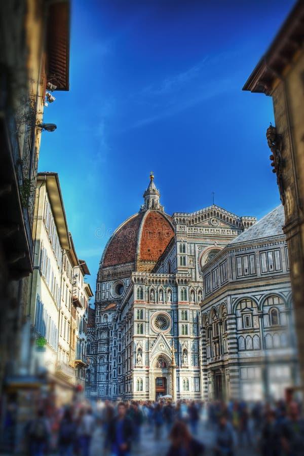 Σάντα Μαρία del Fiore στη Φλωρεντία στην επίδραση μετατόπισης κλίσης στοκ εικόνες