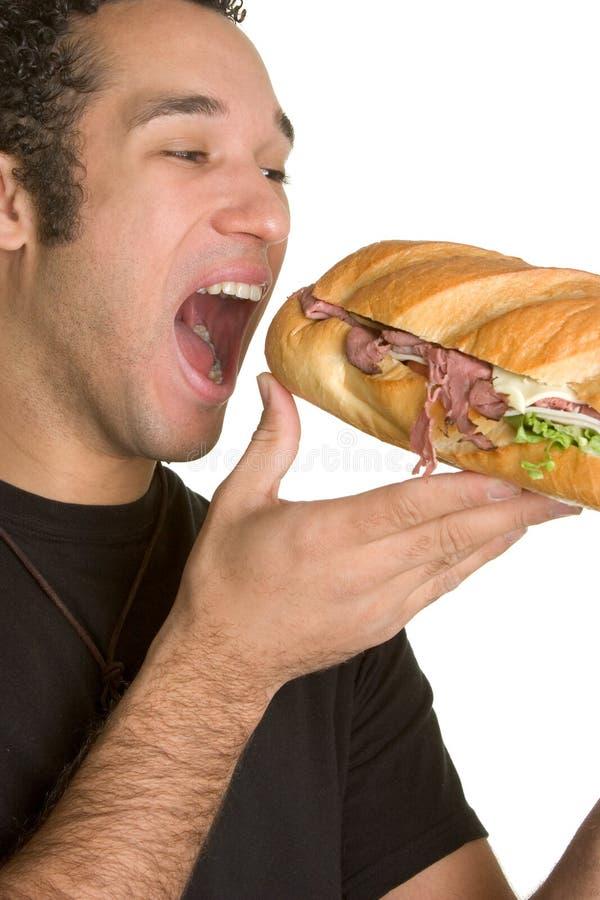 σάντουιτς ατόμων στοκ εικόνα με δικαίωμα ελεύθερης χρήσης