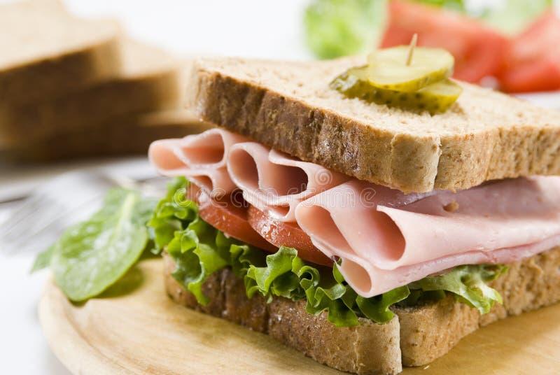 σάντουιτς ζαμπόν στοκ εικόνα