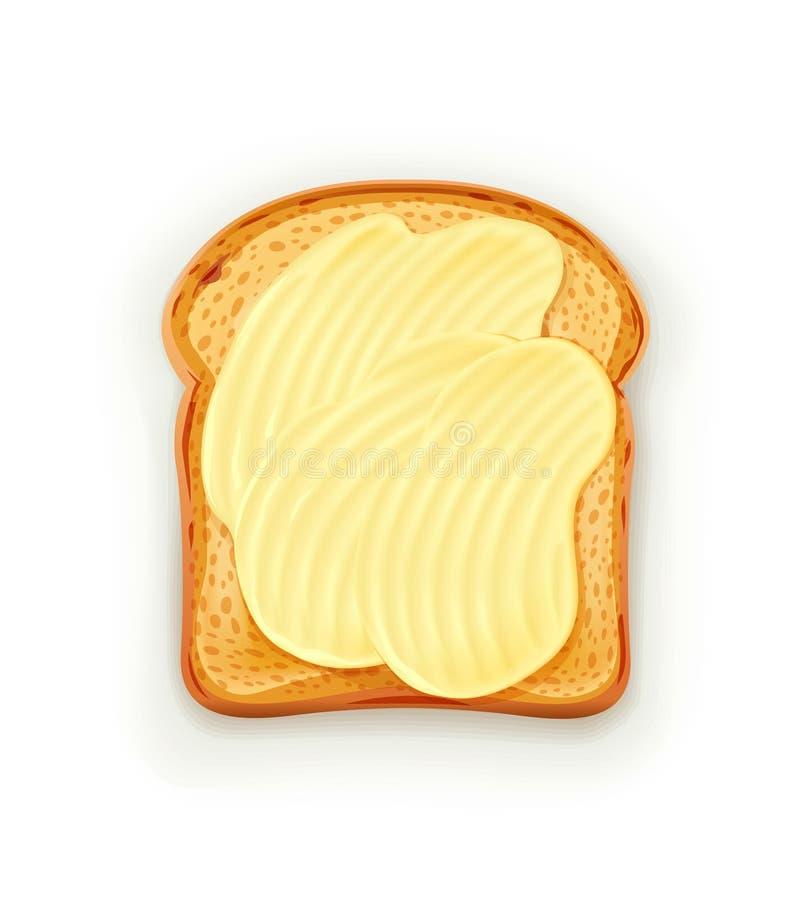Σάντουιτς με το βούτυρο απεικόνιση αποθεμάτων
