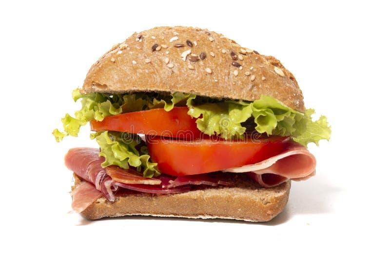 Σάντουιτς με το ζαμπόν στοκ εικόνα