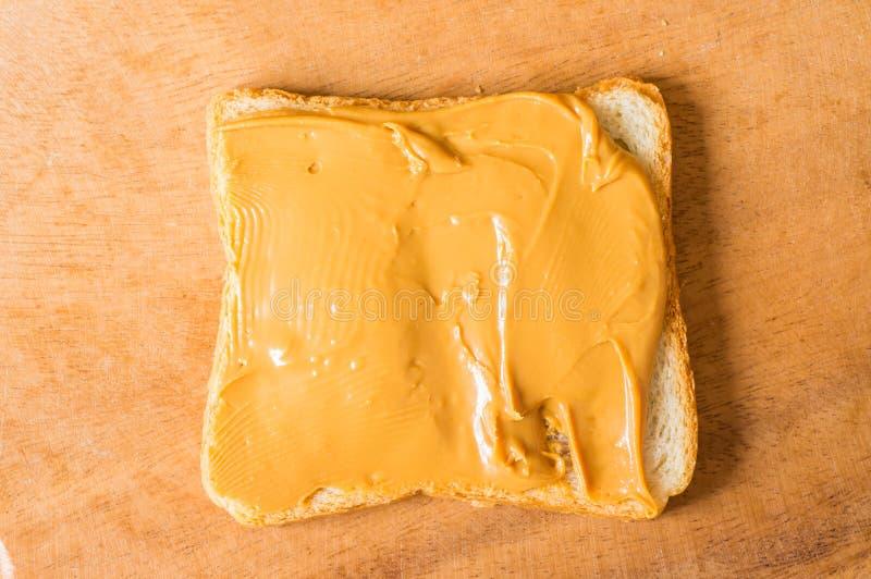 Σάντουιτς με το φυστικοβούτυρο στοκ φωτογραφία