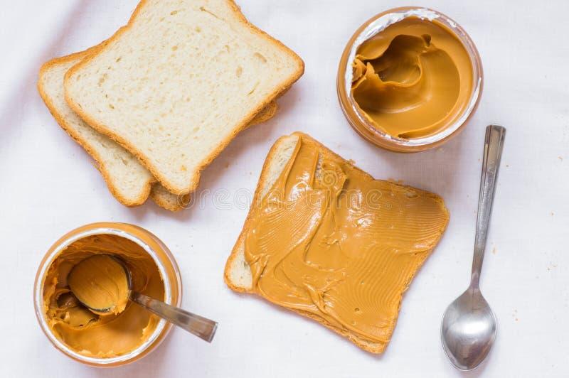 Σάντουιτς με το φυστικοβούτυρο στοκ φωτογραφίες