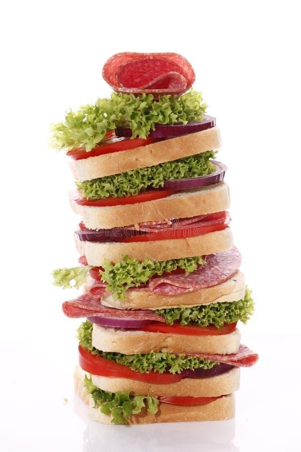 σάντουιτς σαλαμιού στοκ φωτογραφία με δικαίωμα ελεύθερης χρήσης