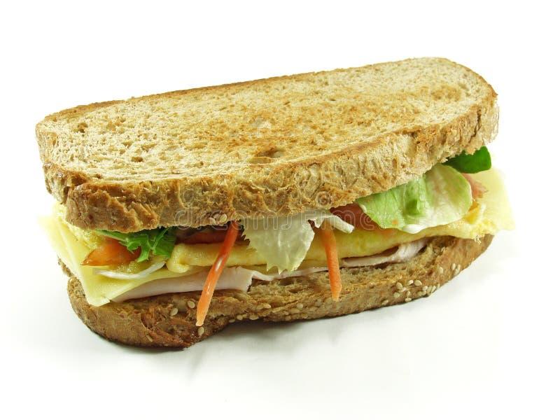 σάντουιτς σολομών στοκ φωτογραφία