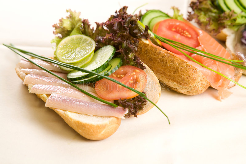 σάντουιτς ψαριών στοκ εικόνα