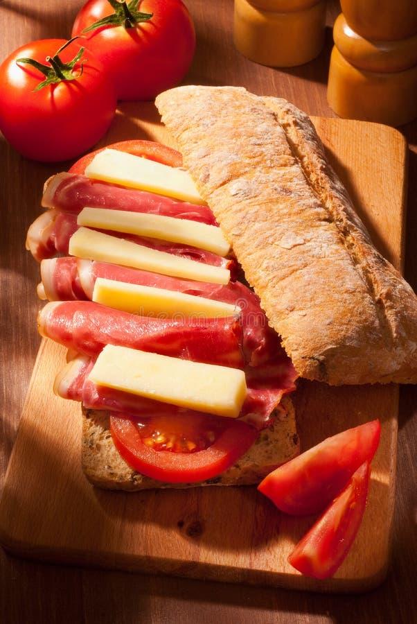 σάντουιτς ciabatta στοκ εικόνες