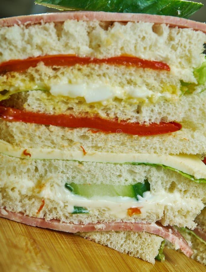 Σάντουιτς de miga στοκ εικόνες