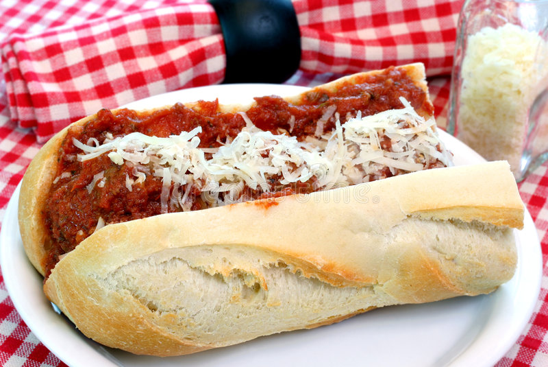 σάντουιτς parmigiana κεφτών στοκ φωτογραφίες