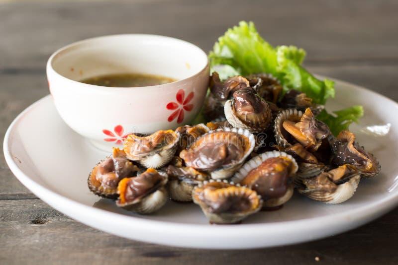 Σάλτσα οστρακόδερμων και θαλασσινών στοκ φωτογραφία