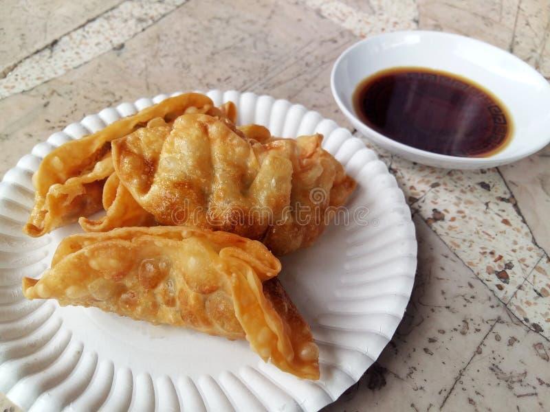 σάλτσα gyoza και shoyu στοκ εικόνες