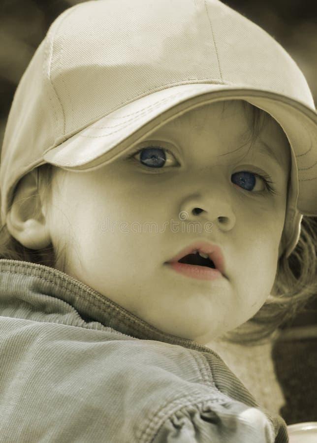 σέπια παιδιών στοκ εικόνα με δικαίωμα ελεύθερης χρήσης