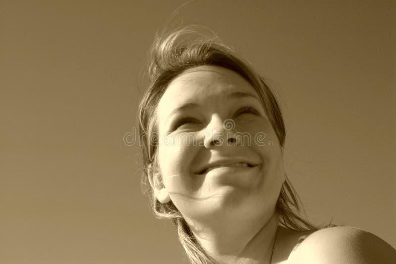σέπια προσώπου ηλιόλουσ&t στοκ φωτογραφίες