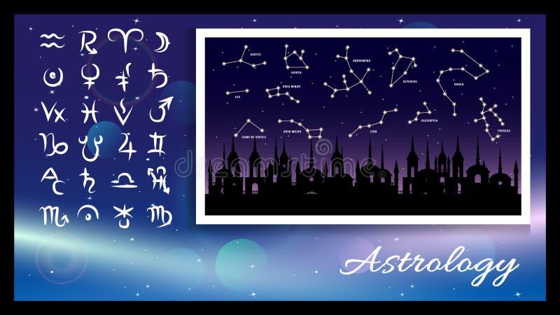 Σήματα αστρολογίας, σύμβολα ελεύθερη απεικόνιση δικαιώματος