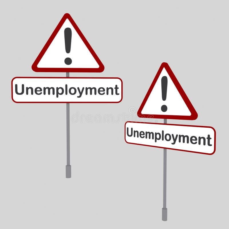 Σήμα ανεργίας ελεύθερη απεικόνιση δικαιώματος
