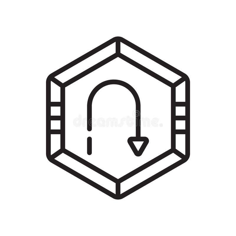 Σήμα βελών καμπυλών κυκλοφορίας σημαδιού και του συμβόλου εικονιδίων του διανυσματικού που απομονώνονται στο άσπρο υπόβαθρο, σήμα ελεύθερη απεικόνιση δικαιώματος