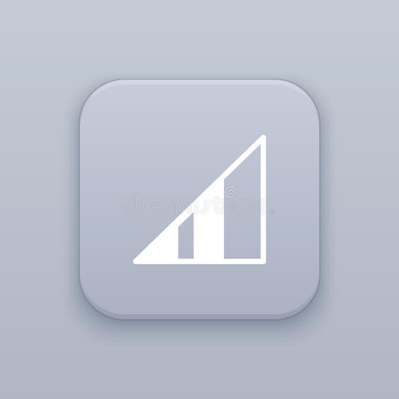 Σήμα, γκρίζο διανυσματικό κουμπί δύναμης με το άσπρο εικονίδιο ελεύθερη απεικόνιση δικαιώματος