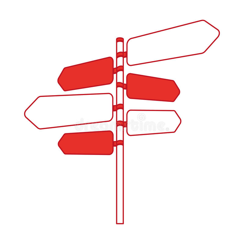 Σήμα με το εικονίδιο βελών διανυσματική απεικόνιση