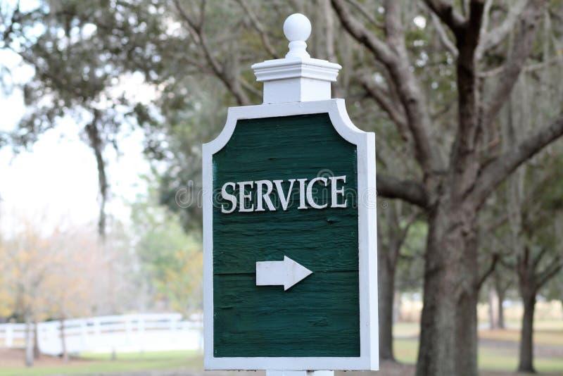 Σήμα που δείχνει την περιοχή υπηρεσιών στοκ εικόνα