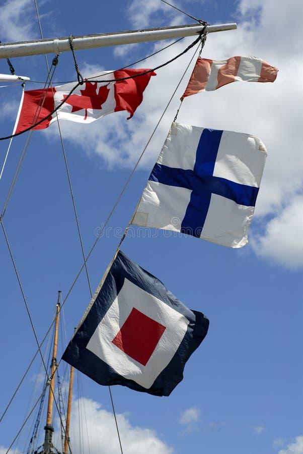 σήμα σκαφών σημαιών στοκ εικόνα