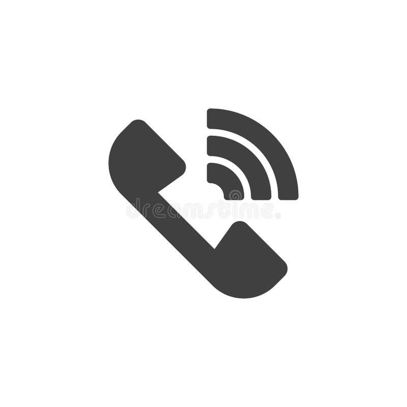 Σήμα τηλεφωνικών δικτύων διανυσματικό εικονίδιο απεικόνιση αποθεμάτων