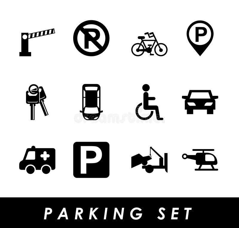 Σήμα χώρων στάθμευσης διανυσματική απεικόνιση