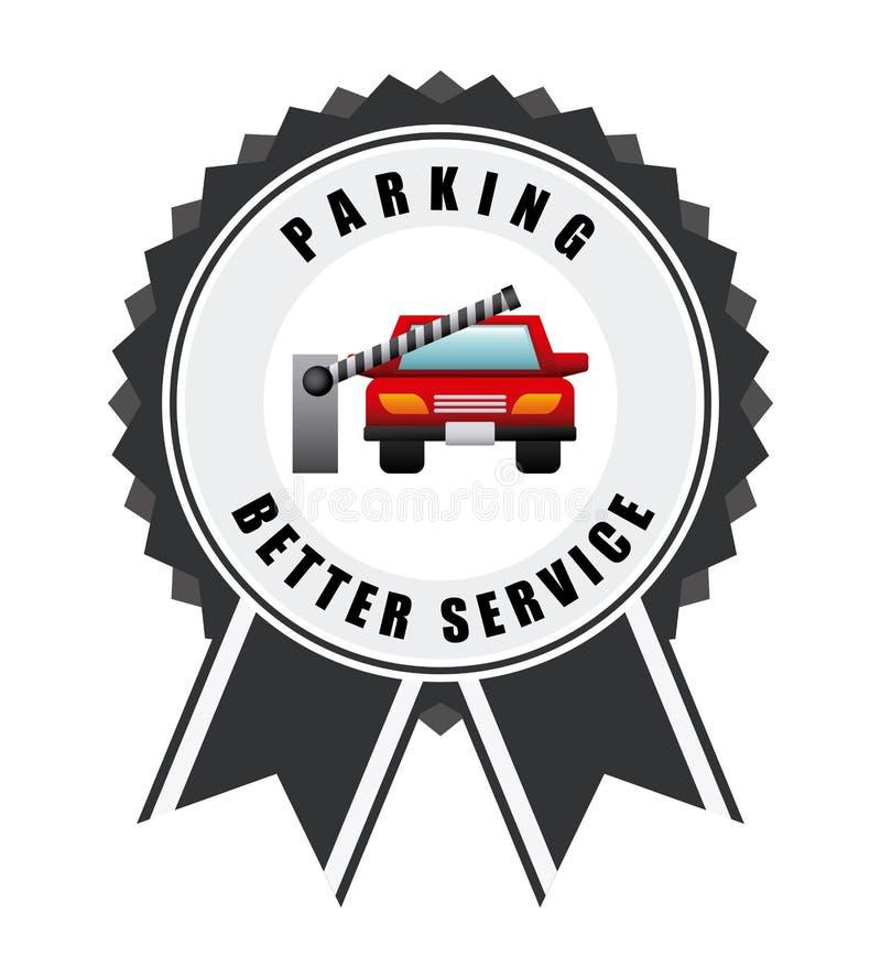 Σήμα χώρων στάθμευσης απεικόνιση αποθεμάτων