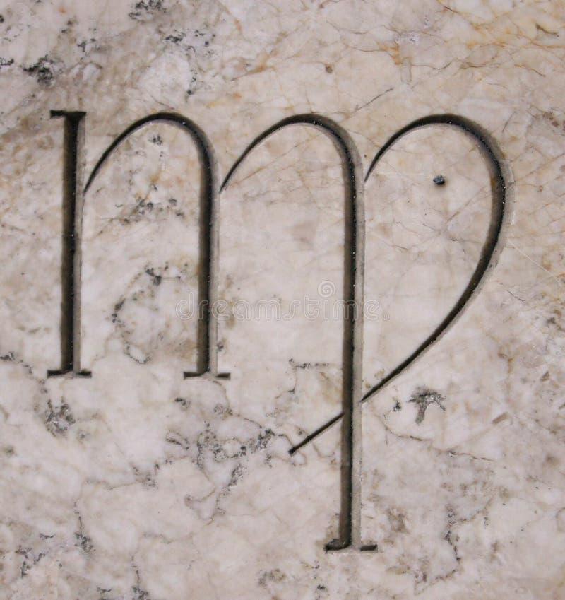 Σήμα Virgo στοκ εικόνες με δικαίωμα ελεύθερης χρήσης