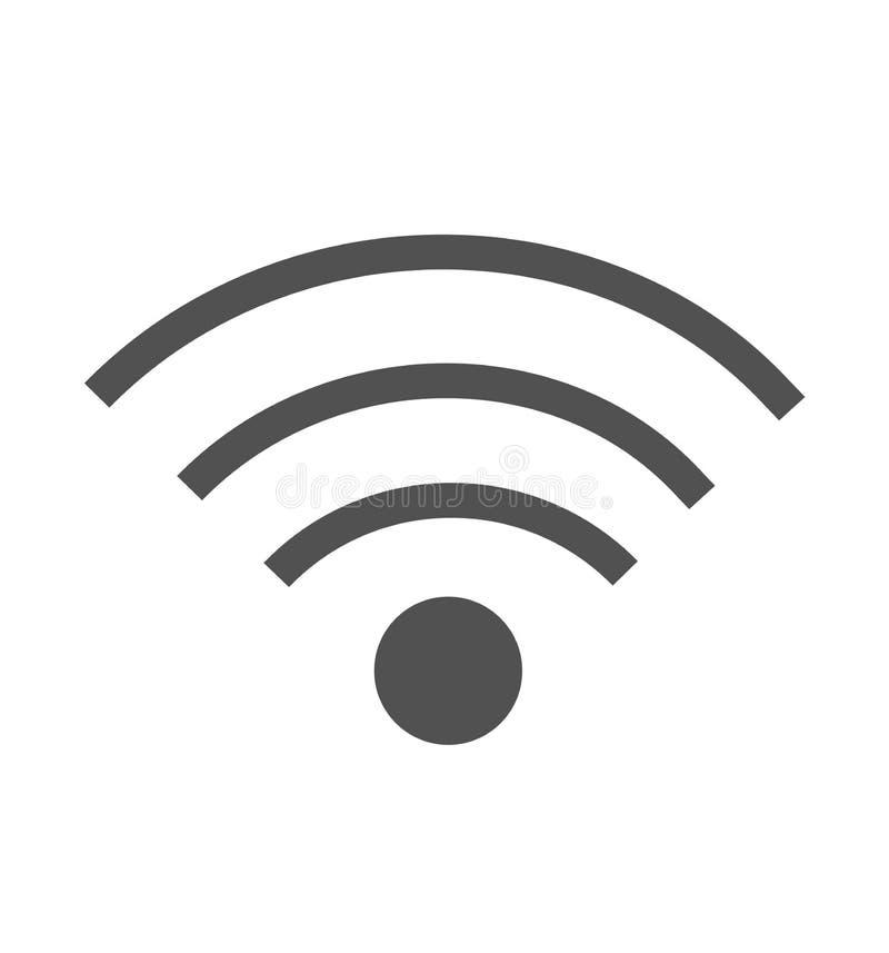 Σήμα Wifi της πλήρους διανυσματικής απεικόνισης εικονιδίων σύνδεσης δύναμης που απομονώνεται στο λευκό διανυσματική απεικόνιση