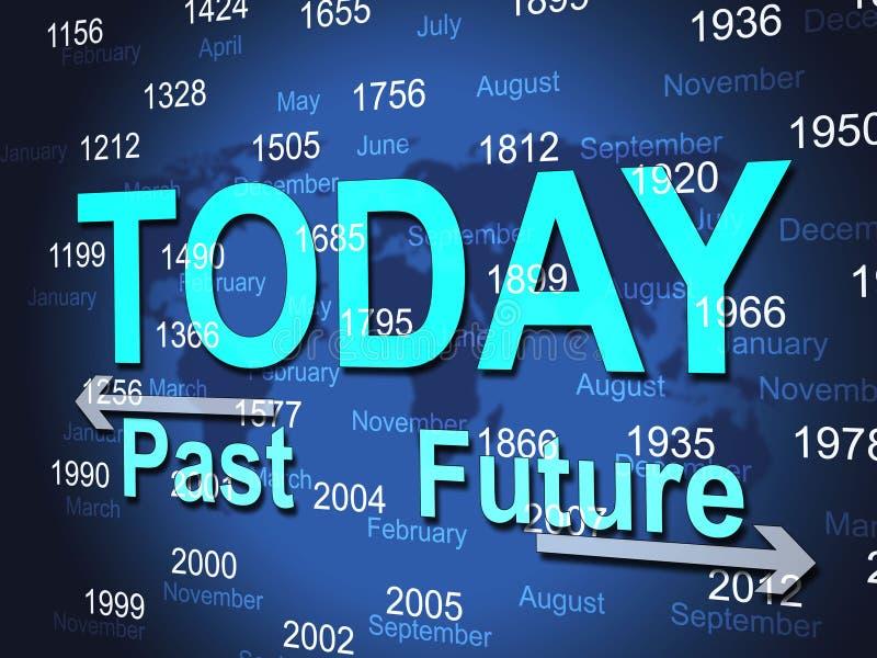 Σήμερα ο χρόνος αντιπροσωπεύει αυτή τη στιγμή και τελείωσε ελεύθερη απεικόνιση δικαιώματος
