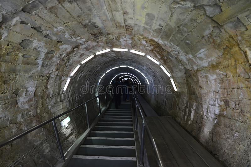 Σήραγγα στην αλυκή Turda αλατισμένου ορυχείου στη Ρουμανία στοκ φωτογραφία με δικαίωμα ελεύθερης χρήσης