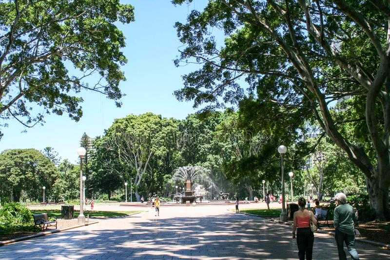 Σίδνεϊ, λιμάνι, γέφυρα, Όπερα, βοτανικοί κήποι και πάρκο της Luna στοκ εικόνα με δικαίωμα ελεύθερης χρήσης