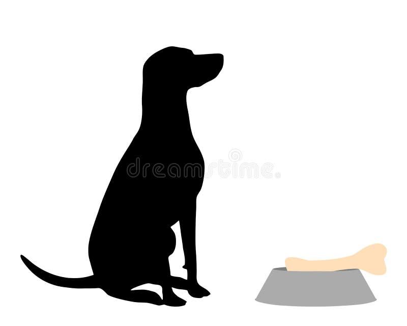 Σίτιση σκυλιών απεικόνιση αποθεμάτων