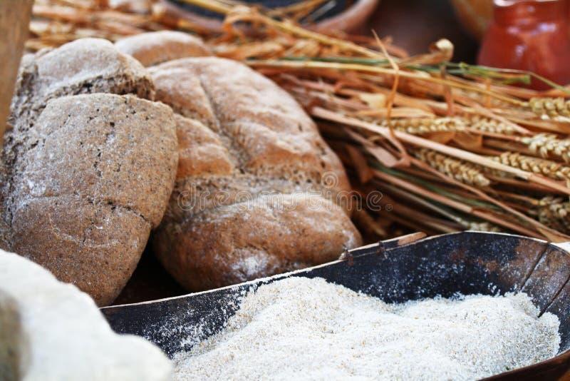 Σίτος, αλεύρι και ψωμί στοκ φωτογραφίες