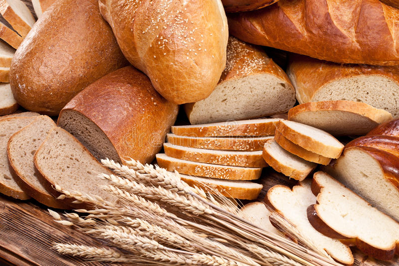 σίτος ψωμιού τρόφιμα μπουλεττών ανασκόπησης πολύ κρέας πολύ στοκ φωτογραφία με δικαίωμα ελεύθερης χρήσης