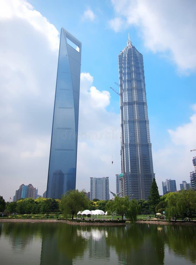 Σαγγάη, ουρανοξύστες στοκ εικόνα