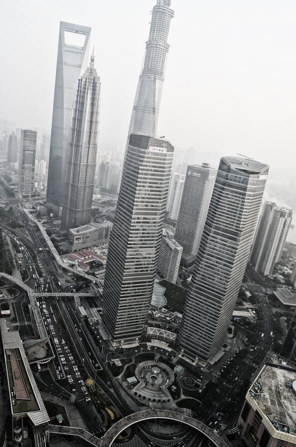 ΣΑΓΚΆΗ - 15.2013 άποψη του νοεμψρ. από τον ασιατικό πύργο TV μαργαριταριών στοκ φωτογραφία