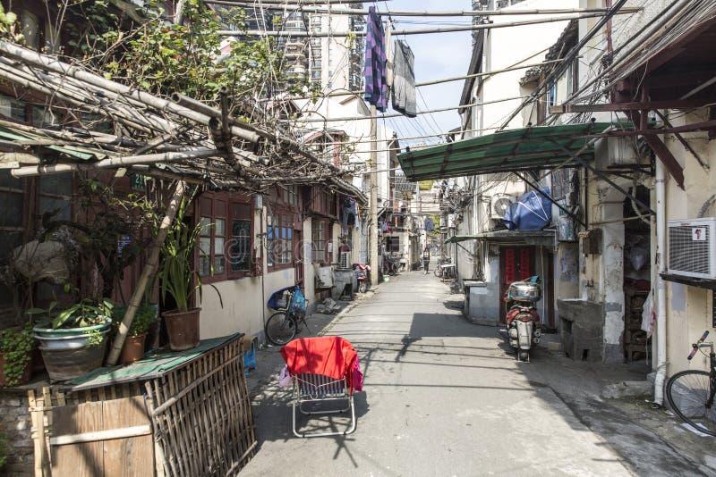 ΣΑΓΚΆΗ, ΚΙΝΑ - 4 ΑΠΡΙΛΊΟΥ 2016: Παλαιά περιοχή της Σαγκάη στοκ εικόνα με δικαίωμα ελεύθερης χρήσης