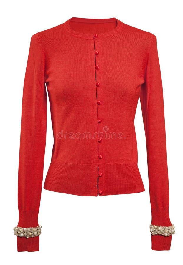 Σακάκι που απομονώνεται κόκκινο στο λευκό στοκ φωτογραφία με δικαίωμα ελεύθερης χρήσης