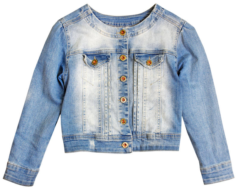 Σακάκι Jean τζιν που απομονώνεται στοκ εικόνες με δικαίωμα ελεύθερης χρήσης