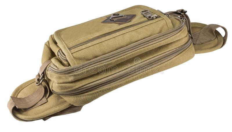 Σακούλα μέσης που απομονώνεται στο άσπρο υπόβαθρο στοκ φωτογραφία
