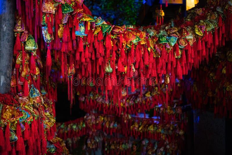 Σακούλια διακοσμήσεων παραδοσιακού κινέζικου για το σεληνιακό νέο έτος στοκ φωτογραφίες