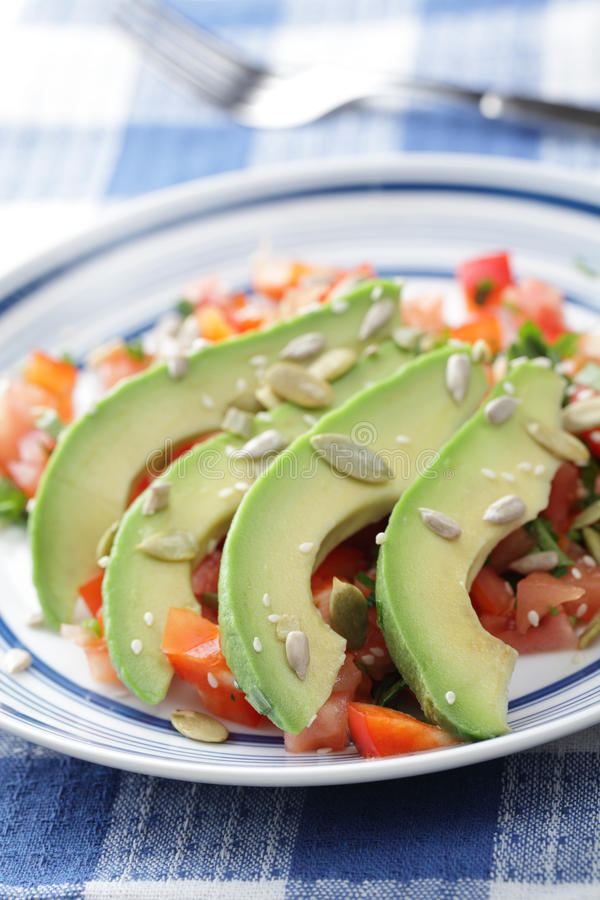 σαλάτα αβοκάντο στοκ εικόνες