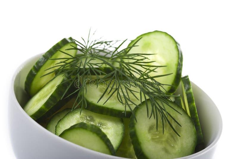 σαλάτα αγγουριών κύπελλ& στοκ εικόνα